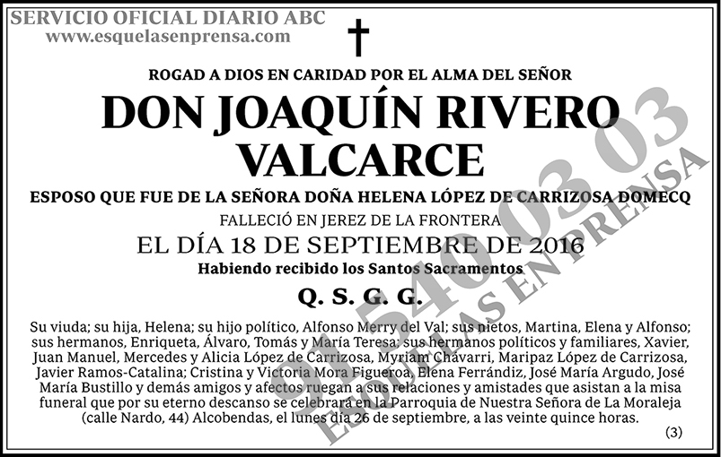 Joaquín Rivero Valcarce